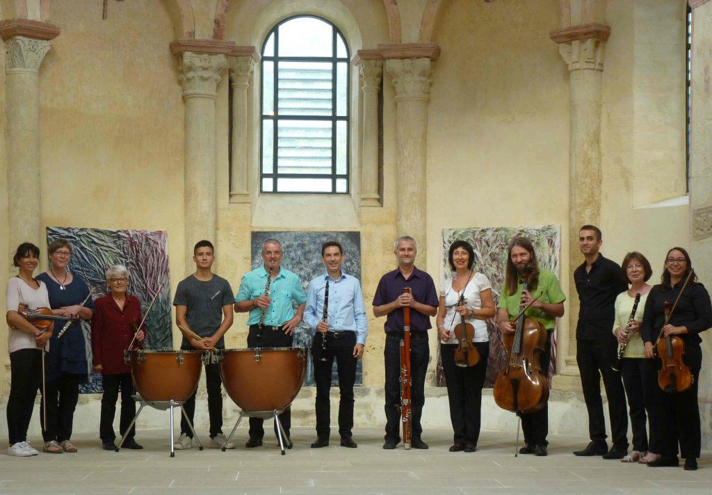 2septembre 2017-concert exposition de peinture au prieuré de Salaise sur Sanne