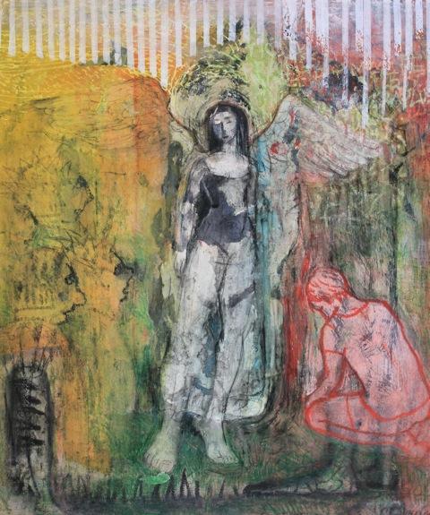 Adoration-technique mixte-Claire CALEMARD